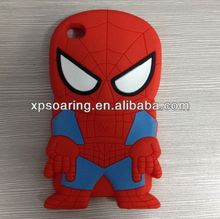 Heroman silicone case for ipod touch 4 Spider man design