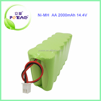 2000mah 14.4v aa size ni-mh rechargeable battery pack