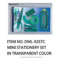 Mini stationery set in transparent color