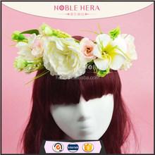 1148E decorativa de plástico hibiscus / plumeria flor do casamento garland headband