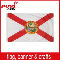 wholesale high quality 75D polyester screen printing custom state flag red and white and red for election