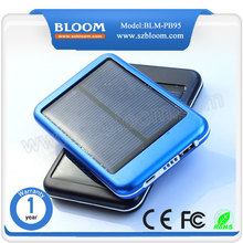 Top selling solar usb charger 5000mah, Portable Solar power bank for mobile phones ,CE FCC Solar charger