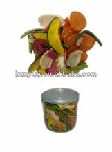 Vacuum frying mixed vegetables chips