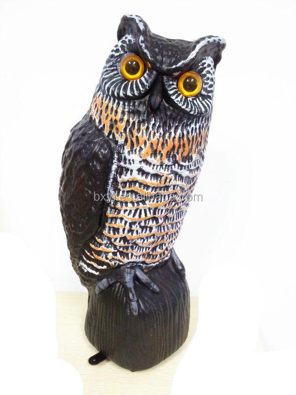 hibou ext rieure jardin statues r pulsif pour oiseaux. Black Bedroom Furniture Sets. Home Design Ideas