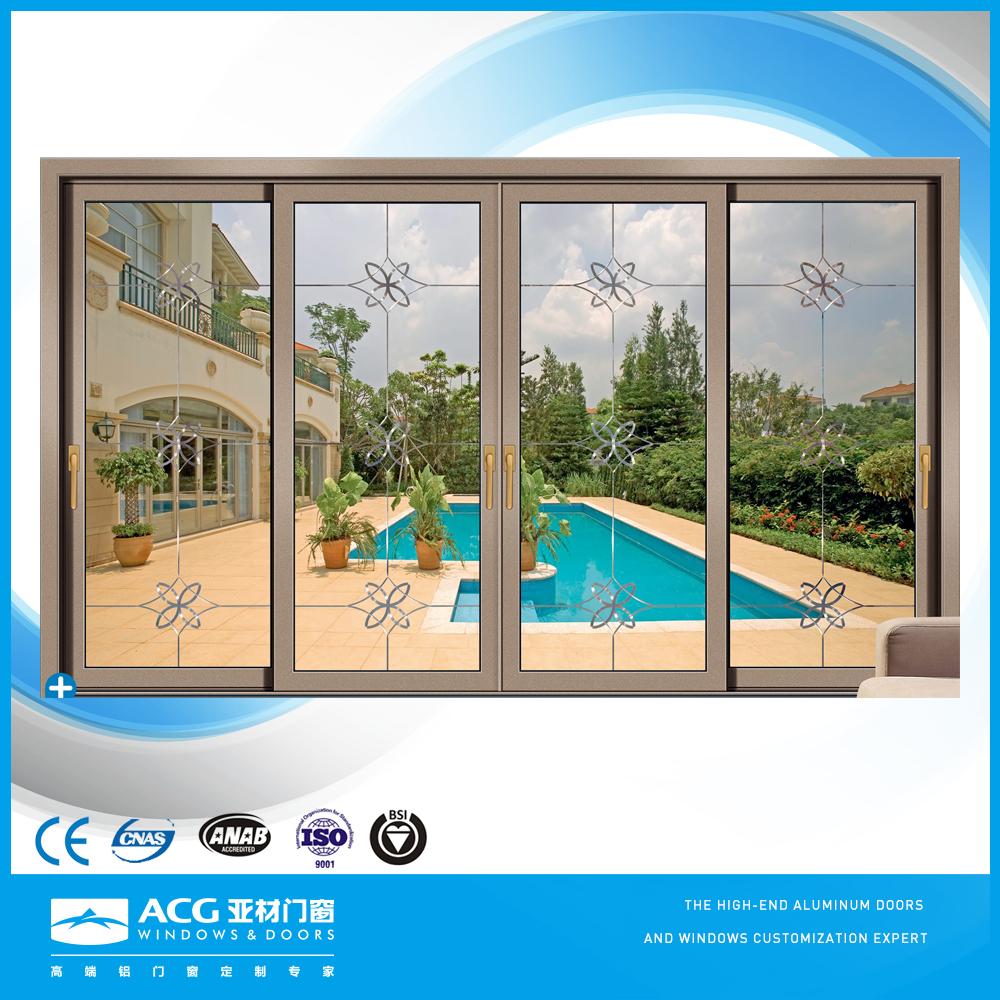 cliente diseo de ventana corrediza con marco de aluminio con doble cristal