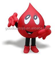 moving cartoon advertisements Blood Drop mascot costume