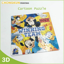 Educational toy custom Paper puzzle for children