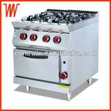 Free standing Gas Range with 4-burner & oven