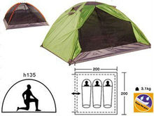 Waterproof canvas family tents