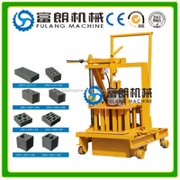 QT40-3C small moving egg laying hollow concrete blocks making machine for sale in india