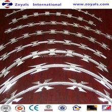 2015 good quality flat wrap crossed concertina razor wire mesh