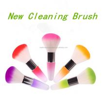 The new style Long Acrylic Handle Nylon Hair nail brush dust cleaning brush