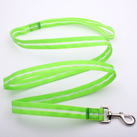 china factory custom durable retractable dog leash with led light