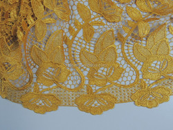 New designs best price gold bridal lace fabric wholesale