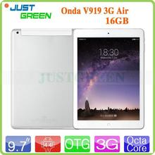 Hot sell Onda V919 3G Air Ratio 4:3 MTK8392 CPU 1.7GHz-2.0GHz Android 4.4 OS Mini Pad 3g RAM 2GB Multi-Languge