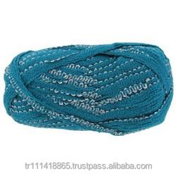 acrylic and nylon ribbon knitting yarn for scarf