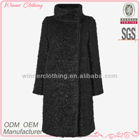 Ladies' long sleeves fashion office lady high quality direct manufacturer blackberry coat