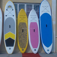 wholesale New Design LED light inflatable sup stand up paddle board