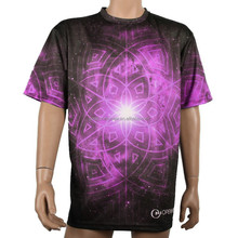 100% polyester Custom blank sublimation galaxy wholesale t shirts design