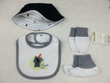 Comfortable 100% Cotton newborn baby 4pcs gift set