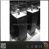 Elegant dark brown high gloss surface showcase tower