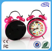 Wholesale Pretty MP3 Music Alarm Clock for Children with USB port and voice replacement