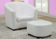 Look Juvenile Chair and Ottoman Leather Baroque Armchair and Ottoman Sofa chair