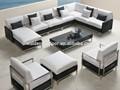 Miami rattan móveis / sofá de canto barato / rattan sofá de canto