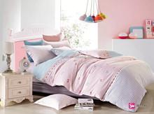 2015 small butterfly pattern twin size organic cotton kids comforter sets 4pcs set