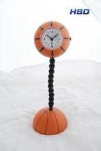 HSD Promotional Basketball Shape Sporty Alarm Clock 2060