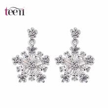 Teemi 2015 las mujeres de moda de la versión coreana de la nueva manera caliente Accesorios de diseño copo de nieve pendientes c