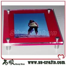 POP acrylic wall mounted photo frames/acrylic photo frame/acrylic Sign Holder