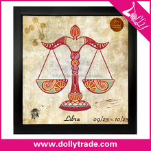 simple abstract zodiac art printed paintings on canvas