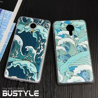 Summer waves custom design 3D high quality hard pc mobile phone case for meizu mx5, for any mobile you want