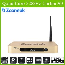4 K google internet box tv Zoomtak T8 plus Amlogic s812 servidor de streaming de IPTV com OTA Updater suporte sexo japonês AV vídeo