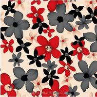New arrivals black and red flower design bedding comforter set
