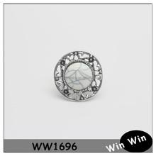 Fashion jewelry round elastic veined acrylic bead ring