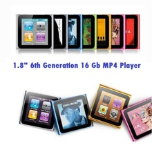 "16GB 6th Gen Touch Screen Shake Song 1.8""LCD FM Radio Video Mp3 Mp4 Mp5 Player"