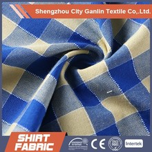 yarn dyed cotton polyester shirting fabric for shirt for man