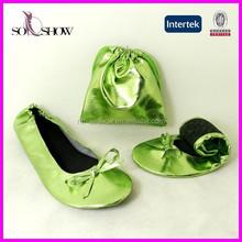 Fashion women shiny flat shoes