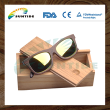 China Professional Good Quality New Design wooden sunglasses case / Wooden case