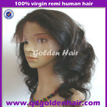 Fashion Natural Looking Human Hair Thin Skin Full Lace Wig With Baby Hair