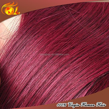 Tangle Free shedding free color 99j brazilian hair kinky curly remy hair weaving 99j