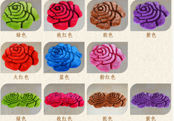 chinese flower shaped wool rugs made in Tianjin China
