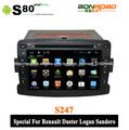 coche reproductor de dvd para el plumero renault logan sandero con navegación gps ipod 3g usb