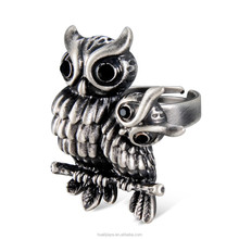 R004 Owl Hot selling wholesale fashion jewelry ring for women and men