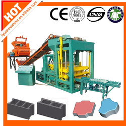 QTJ4-25 manual cement brick making machine cost
