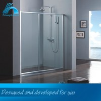Highest Level Factory Direct Price Custom-Made Decorative Glass Shower Doors Bathroom Sanitary Fittings