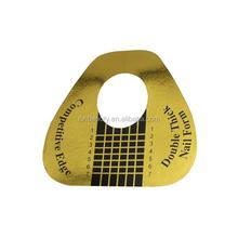 500 PCS Golden Paper Horse Shoe shape Double Thick Professional Nail Tips Extension Form,manicure nail form,gel nail form paper