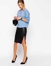 de cuero lápiz falda hasta la rodilla el último largo de moda las faldas 2015